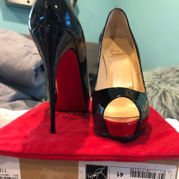 Christian Louboutin Black And Red Heels